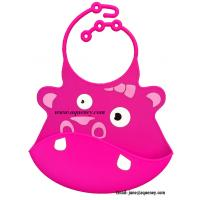 Buy cheap Adjustable neck Silicone Baby Bib, Custom Silicone Baby Bib from wholesalers