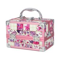 Wholesale Beautiful Aluminum Vanity Case Double Open Pink Makeup Case from china suppliers