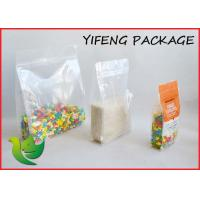 Quad Seal Flat Bottom Pouch With Pocket Zipper For Seed Corn Packaging Manufactures