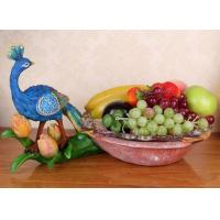 Buy cheap Resin Crafts Peacock Animal Ornaments  Fruit Tray from wholesalers