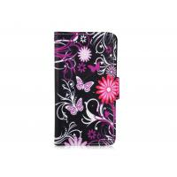 Buy cheap Printing Pink Butterfly Leather Cell Phone Wallet Huawei g610 , y210 Cases with Stand from wholesalers