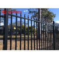 Buy cheap Ornamental Galvanized Steel Spear Top Fencing Panels Security For Garden And Stairs from wholesalers
