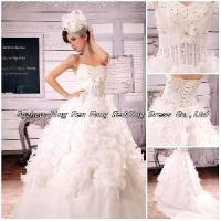 2012 Custom Made Sweetheart Beaded Sequins Flower Wedding Dress (BS-048) Manufactures