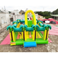 Buy cheap Safari Park Inflatable Playground Coconut Tree Bounce Slide from wholesalers
