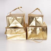 Buy cheap OEM Custom Printing Soft Insulated Cooler Bag 4 size golden insulated bag stock available from wholesalers