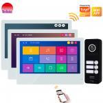 Buy cheap Video door bell app remote unlock door phone two way talking door intercom touch screen intercom system from wholesalers