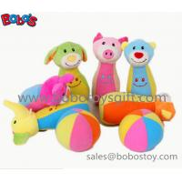 Buy cheap 7 Plush Baby Farm Friend Bowling Ball Toy  Stuffed Animal Style Kids Bowling Ball Toy from wholesalers