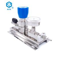 Buy cheap High pressure gas control panel stainless steel 316L argon gas pressure regulator with ball valve from wholesalers