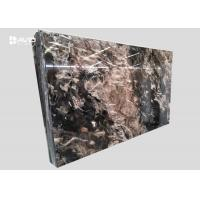 Buy cheap Xiamen service fantasy black marble glossy polished 18cm beautiful veins product