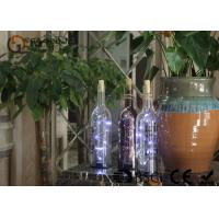 Buy cheap battery operated glass wine bottle with led lights party decor gift or night light from wholesalers