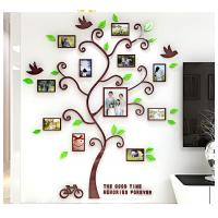 Buy cheap Photo Frame Tree Country Style Acrylic 3D Waterproof 11 Photo Frames Wall Stickers from wholesalers