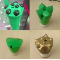 Buy cheap Ballictic / Spherical Green Rock Button Drill Bit 4 / 7 Buttons 51mm for Granite from wholesalers