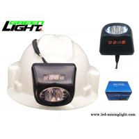 Buy cheap 8000lux higher brightness super water-proof black color 5.7Ah coal mine led headlight small size and light weight from wholesalers