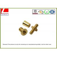 Metal Computer Numerical Control CNC machining service Brass shaft , +/-0.1mm Tolerance