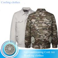 Buy cheap Summer Hot Sell Cooling Heatstroke Suits Fan Overalls Electric Welders Air-conditioning Suits Cooling Clothes for workin from wholesalers
