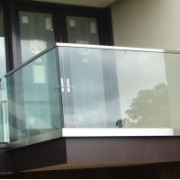 China Exterior aluminum u channel base glass railing  for balcony 42.4mm stainless steel slot handrail on sale
