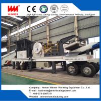 Buy cheap Adaptable Tire type Mobile crushing plant with diversified configuration from wholesalers
