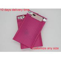 Buy cheap Red Color Poly Bubble Mailers  4 * 8 Inch With High Frequency Heat Seal from wholesalers