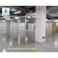 Buy cheap Class 10000 FFU Clean Room Equipment Aluminum Structure With Sliding Doors /  Pharmaceutical Clean Booth from wholesalers