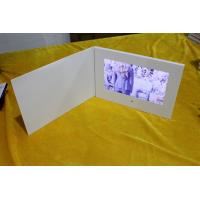Buy cheap Paper material  video advertising book high resolution 10.1 LCD screen white blank card matt lamination card from wholesalers