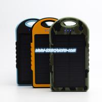Buy cheap 12000mAh 3-Port silicon Portable External Battery 1.7w solar panel charger with appearan from wholesalers