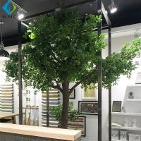 Wholesale 2m Artificial Tree Plant , Decorative Large Ficus Bailey Tree With Wood Trunk from china suppliers