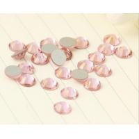 Wholesale 1440pcs Lt rose/pink Flat-Back Glass Fix Non Iron On Rhinestone Bead Nail Art from china suppliers