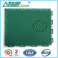 Floated Waterproof Badminton Interlocking Rubber Flooring For Tennis Court Manufactures