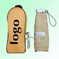 Buy cheap 4-section Folding Light Weight Umbrellas with Zipper Closure Case product