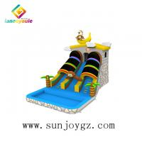 Buy cheap customized color Inflatable Water Slide On Land For Kids Entertainment from wholesalers