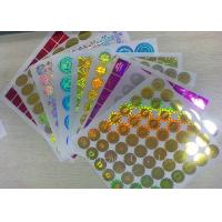Buy cheap Anti - Dirty Security Hologram Stickers Multi Color In Small Round Shape product
