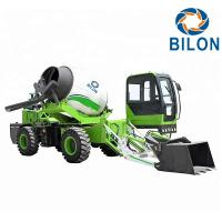 Buy cheap Green Color 2.6 CBM Concrete Mixer Truck With Pump Speed 13r / Min from wholesalers