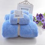 Buy cheap 2pcs Microfiber Baby Towel Sets Plush Bath Face Hand Towel Quick Dry Soft Towels Adult Kids Bath Super Absorbent Towels from wholesalers