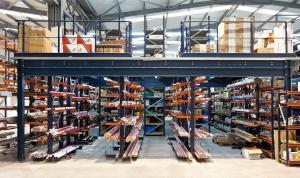 China Q235B Stainless Steel Multilayer Shelf Mezzanine Floor Racking System on sale