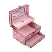 Wholesale Profession Aluminum Cosmetic Case Lightweight Pink For Female from china suppliers