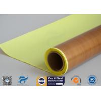 Buy cheap Self - Adhesive Tapes Brown PTFE Coated Fiberglass Fabric Sticker 1000mm Width 50 Meter from wholesalers