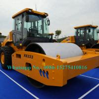 Buy cheap Largest 33 Ton Mechanical Single Drum Vibratory Roller XCMG XS333J Yellow Color from wholesalers
