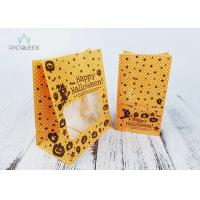 Wholesale Block Bottom Greaseproof Wrapping Paper Bags With Clear Window Oil Proof from china suppliers