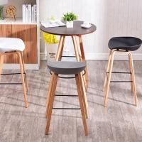 Buy cheap Multi Coloured Wooden Dining Chairs , Modern Plastic Bar Stools from wholesalers
