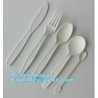Buy cheap cornstarch biodegradable PLA eco plastic cutlery sets,Plastic spoon fork chopsticks Wheat Straw Reusable Camping Biodegr from wholesalers