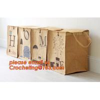 Buy cheap jute dirty clothes cube storage basket, Collapsible Rectangular Fabric Clothes Storage Toy Organizer Pet Toy Storing Jut from wholesalers
