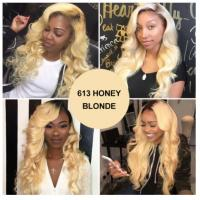 Buy cheap 1b / 613 Blonde 100% Ombre Peruvian Hair Bundles / Ombre Blonde Hair Weave No product