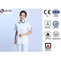 Buy cheap Cotton Disposable Medical Clothing Round Neck Elastic Knitted Cuff Easy Cleaning from wholesalers