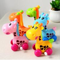 Quality Giraffe Plastic Wind Up Toys 8cm High Beautiful Appearance For Preschool Education for sale