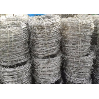 Buy cheap 1.5cm Barb Plastic Coated Galvanized Razor Wire For Railway Barrier from wholesalers