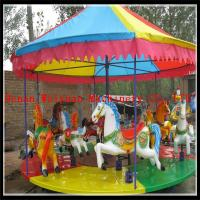 China City & Countryside Outdoor Playground Simple Kids Amusement Carousel Horse Ride for Sale on sale