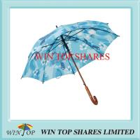 Buy cheap Logo Engraved Auto Wooden Printed Umbrella from wholesalers