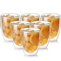 Buy cheap Durable Borosilicate  Heat Resistant Crystal Double Wall Drinking Glasses Cup from wholesalers