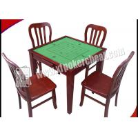 Buy cheap Wooden Square Marked Playing Cards Perspective Table With Hidden Camera from wholesalers