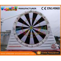 China Popular PVC Inflatable Football Soccer Dart Board Inflatable Foot Darts Rentals on sale